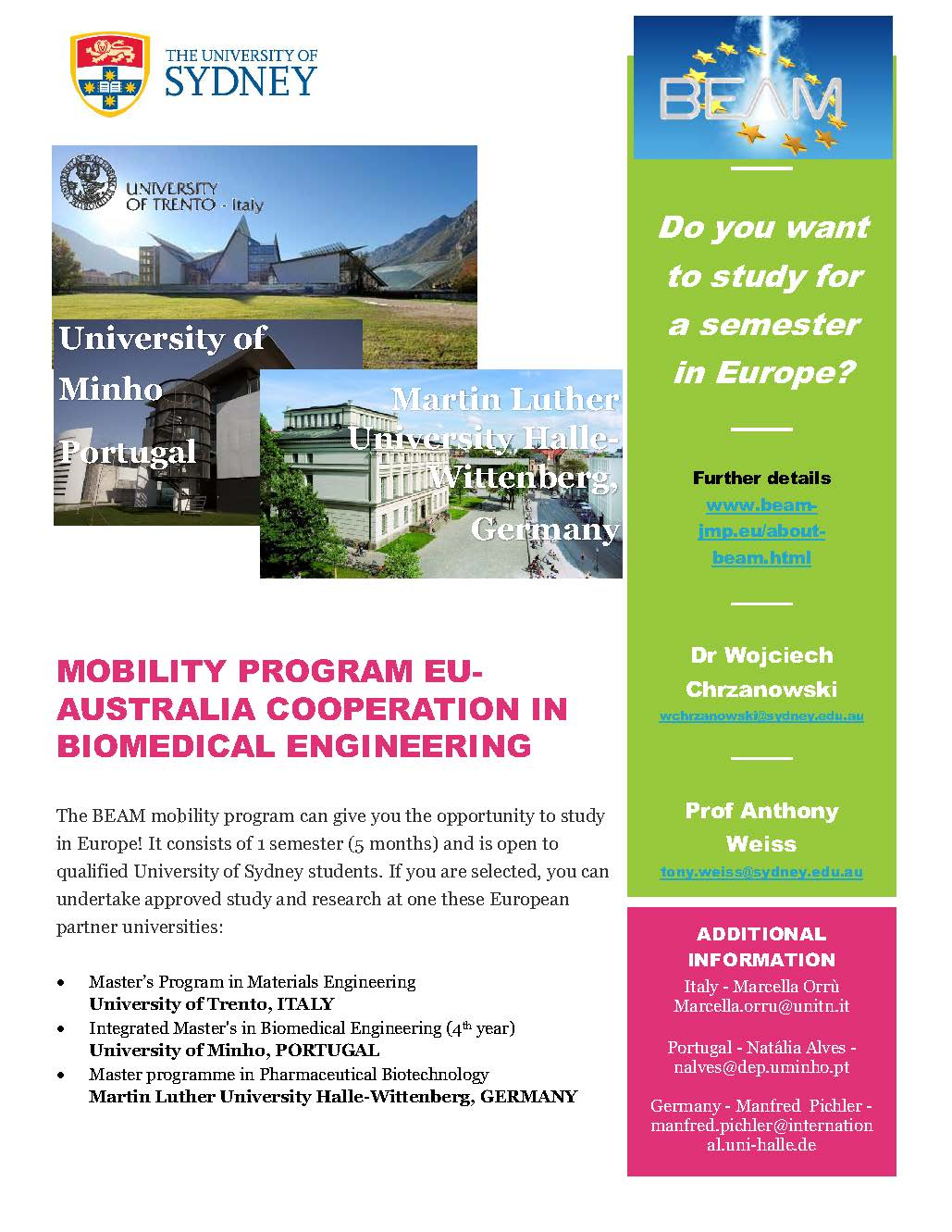 BEAM EU-Australia Biomed Eng
